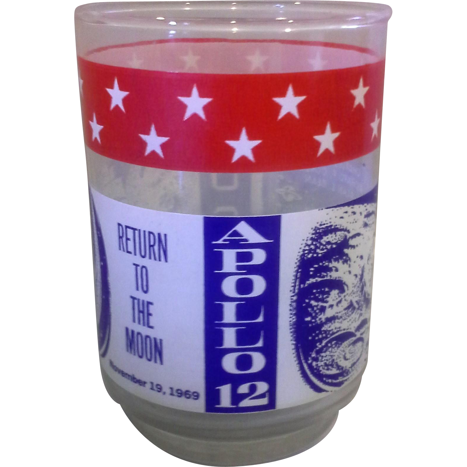 Apollo 12 Libbey Glass Tumbler Commemorative