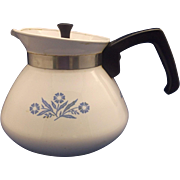 Corning Cornflower Corningware 6 Cup Tea Pot