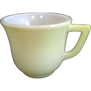 Hazel Atlas Pastel Yellow Platonite Demitasse Cup Only