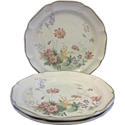 Mikasa Samantha Heritage Dinner Plates Set of Three
