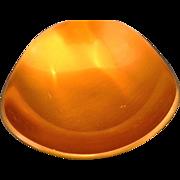 Greenwald Green-Wald Orange Enamel Brass Bowl Modern - Red Tag Sale Item
