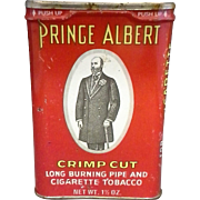 Prince Albert Crimp Cut Tobacco Tin Red 1 1/2 Oz