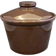 Brown Glazed Pottery Bean Pot Crock Baker