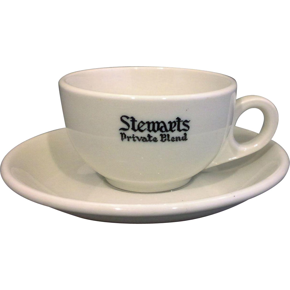 Stewarts Private Blend McNicol China Restaurant Ware Demitasse Cup Saucer Set