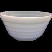 Hazel Atlas Moderntone Platonite White Milk Glass 9 IN Mixing Bowl