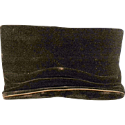 Crown Lewis Black Velvet Clutch Purse Evening Bag
