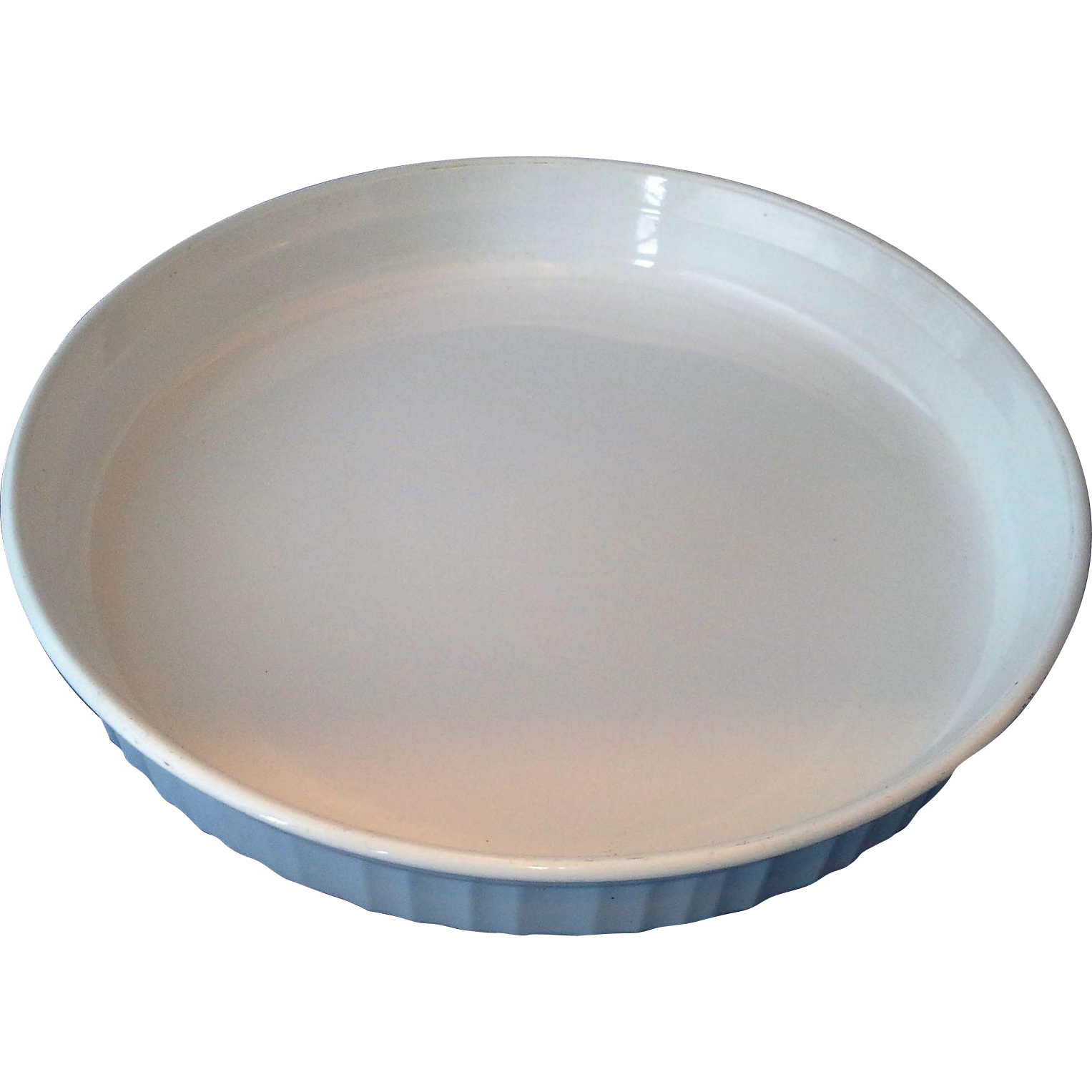 "Corning Ware F-3-B French White 10"" Quiche Tart Pan Round"