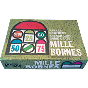 Mille Bornes Parker Brothers French Road Race Card Game 1962