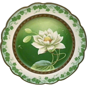 Wheelock MZ Austria Hand Painted Magnolia Cabinet Plate