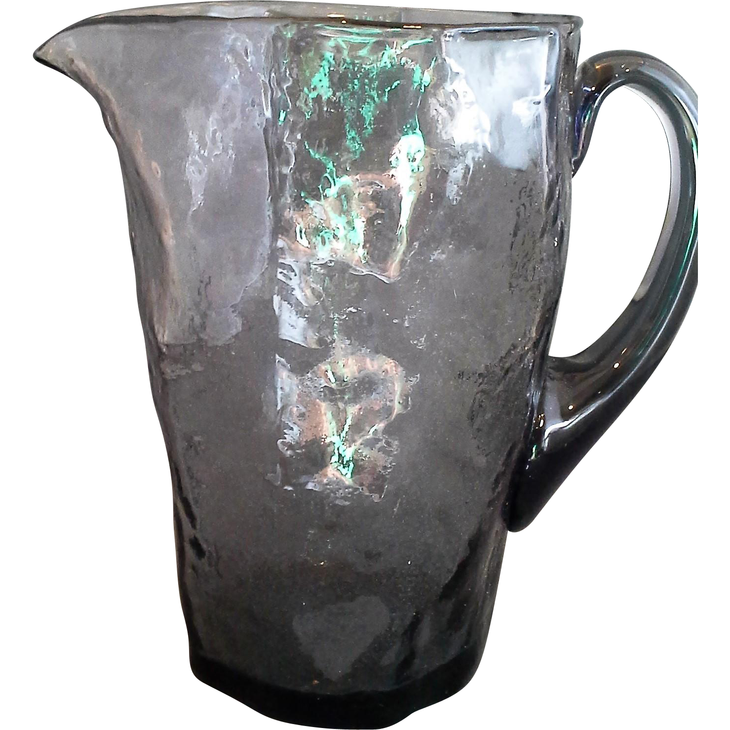 Morgantown Crinkle Smoke Grey Tijuana Pitcher 6 1/2 IN