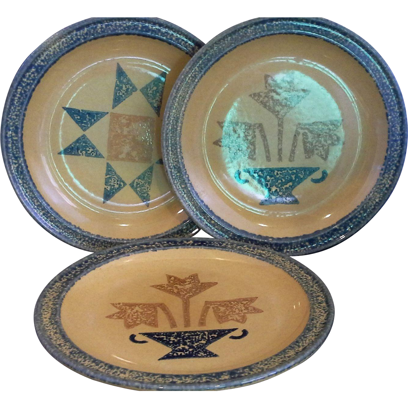 Pfaltzgraff America Dinner Plates Set of Three Two Different Designs