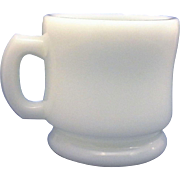 Hazel Atlas White Milk Glass Shaving Mug Large