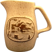 Onion River Pottery Stoneware Creamer Syrup Jug Pitcher
