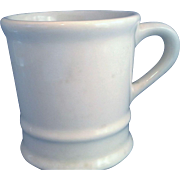 Cream Pottery Heavy Shaving Mug