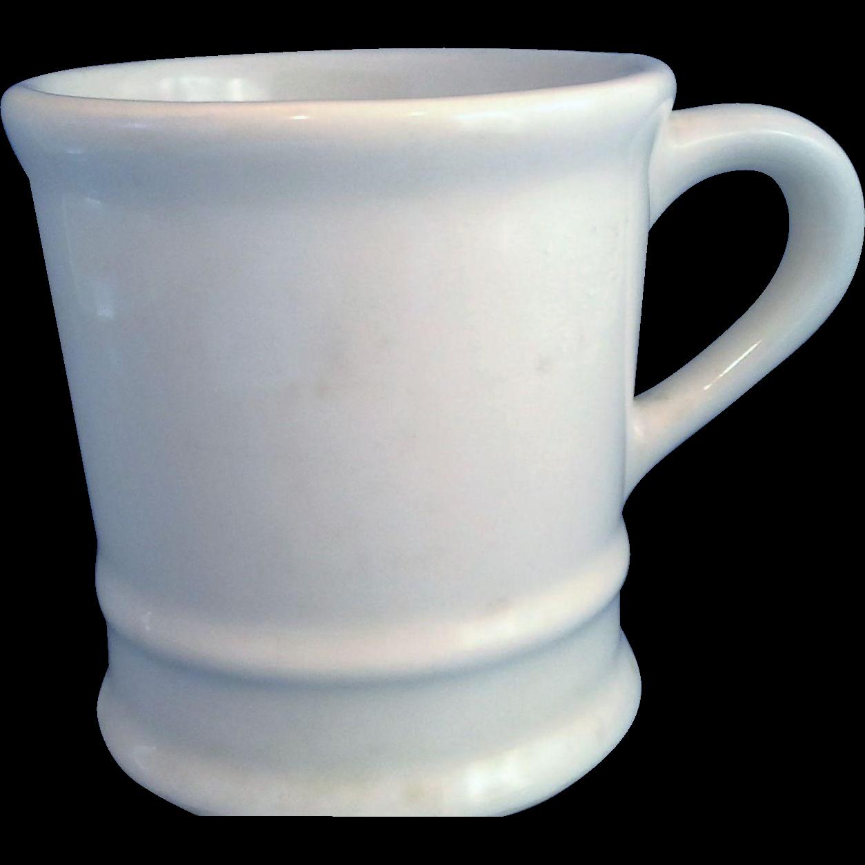 Cream Pottery Heavy Shaving Mug