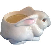 Avon Ceramic Bunny Planter Candle Holder Original Box Hand Painted Brazil