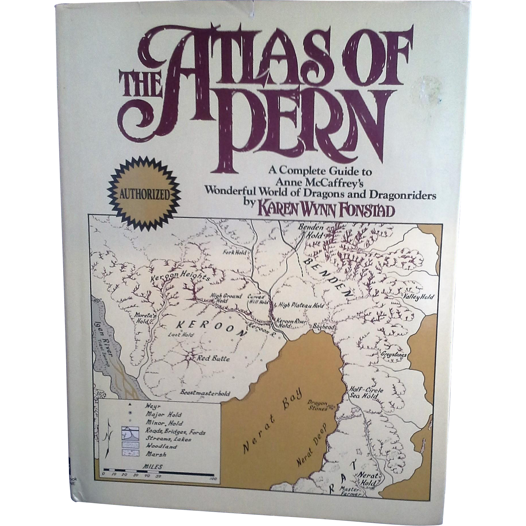 The Atlas of Pern by Karen Wynn Fonstad Hard Cover 1984 Book Club Edition