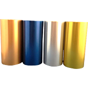 Perma Hues Spun Aluminum Tumblers Set of 4 Blue Copper Gold Silver