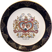 Prince Charles Lady Diana Spencer Wedding Plate Weatherby Royal Falcon Stoke on Trent
