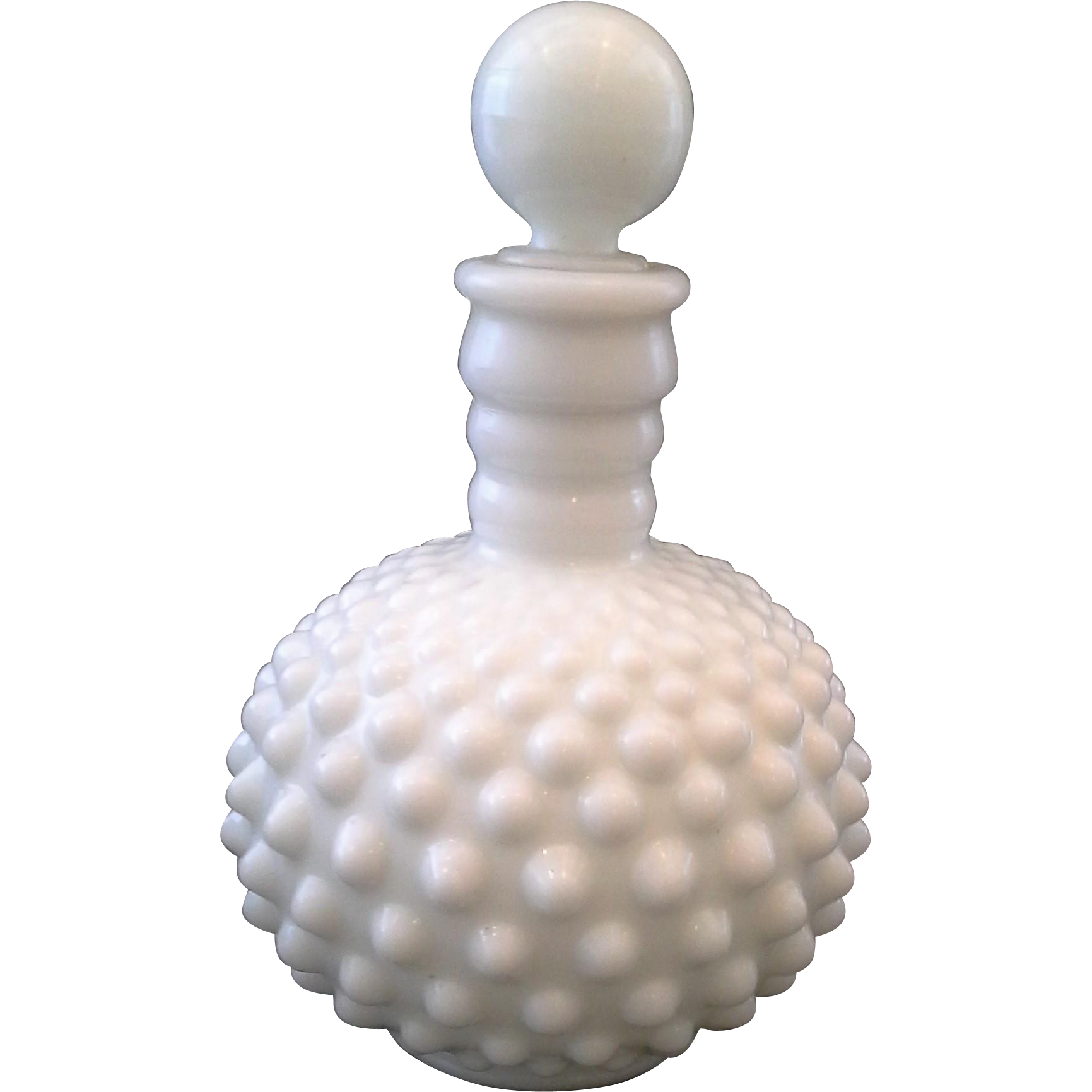 Fenton White Milk Glass Hobnail Cologne Bottle Wrisleys Wrizleys
