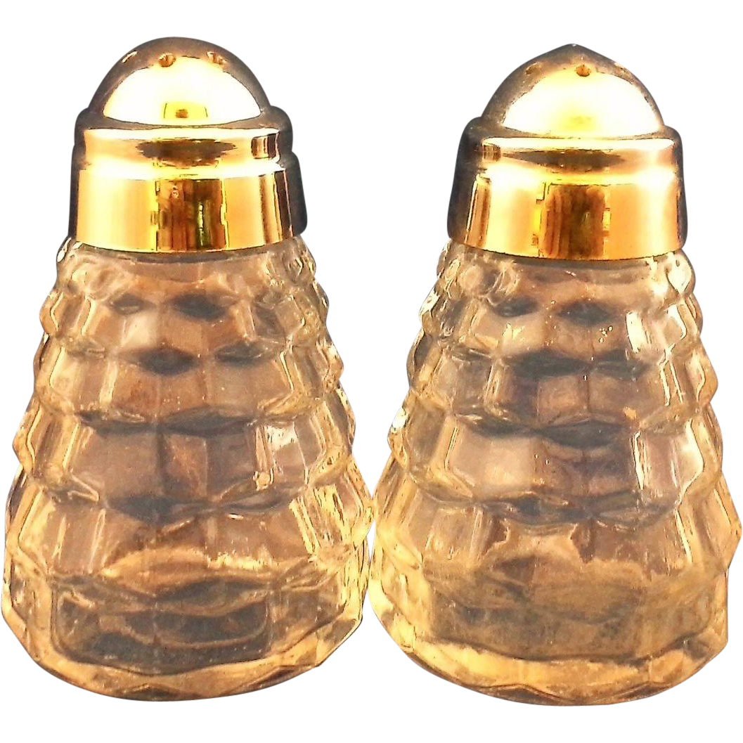Indiana Glass Colony Whitehall Salt Pepper Shakers Clear