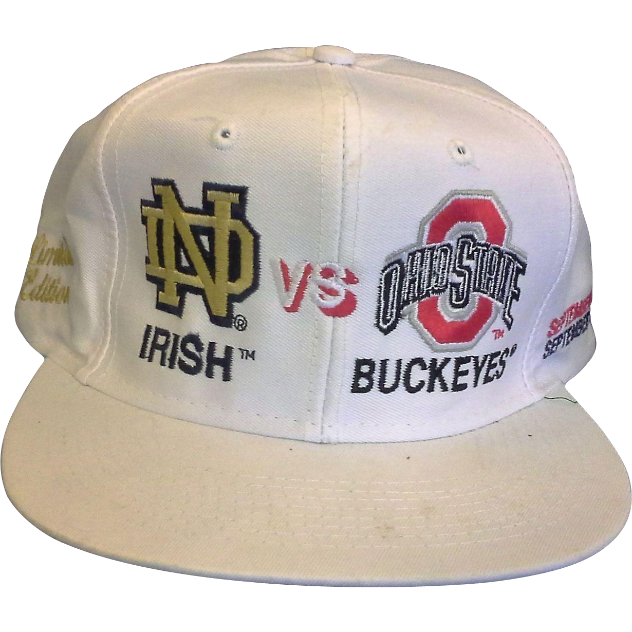 ND v Ohio State Rivalry Renewed 1995 1996 Baseball Cap
