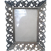 Gilt Flower Leaf Filigree Photo Picture Frame 5 x 7
