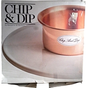 Benjamin Medwin Copper Stoneware Chip & Dip Still In Box Made in Portugal 1985 - Red Tag Sale Item
