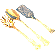 Godinger Silver Plate Shell Plume Kings Pattern Serving Pieces Spoon Pasta Cake