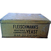 Fleischmanns Vegetable Compressed Yeast Advertising Tin