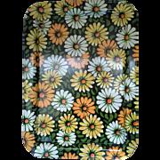 Marshallen Marsh Allen Yellow Orange Green White Daisies Bed Lap Tray Flower Power