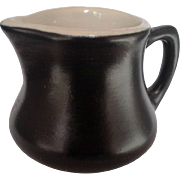 Hall Restaurant Ware Black Mini Individual Creamer Syrup Pitcher