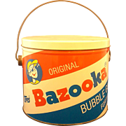 Bazooka Bubble Gum Pail Bucket Tin 1991 Topps
