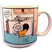 Far Side Cat Fud Mug Gary Larson 1985 - Red Tag Sale Item