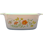 Corning Wildflower A-1 1/2-B Square Casserole Dish 1 1/2 QT No Lid