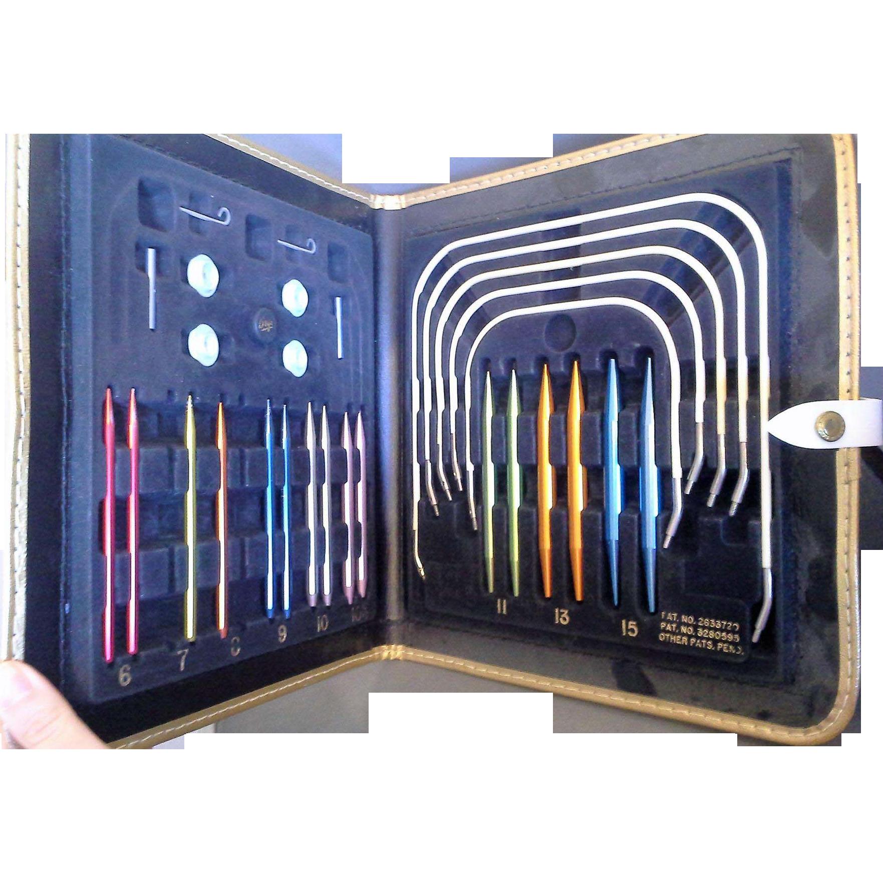 Boye Knitting in the Round Circular Needles Vintage Set Case