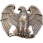 Avon Majestic Eagle Pewter Tone Belt Buckle