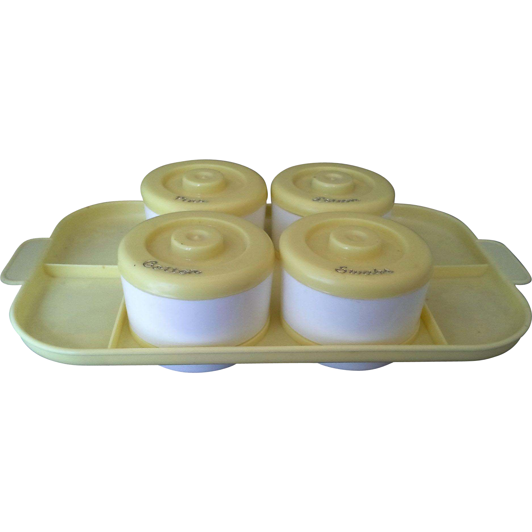 Yellow White Plastic Baby Diaper Changing Kit Supplies Caddy