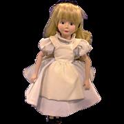 Disney Storybook Collection Alice in Wonderland Grolier Porcelain Bisque Doll 13 IN