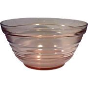 Pink Depression Glass Concentric Rings Mixing Bowl 7 IN