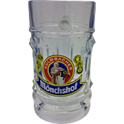 Kulmbacher Monchshof Glass Beer Stein Mug .25 L