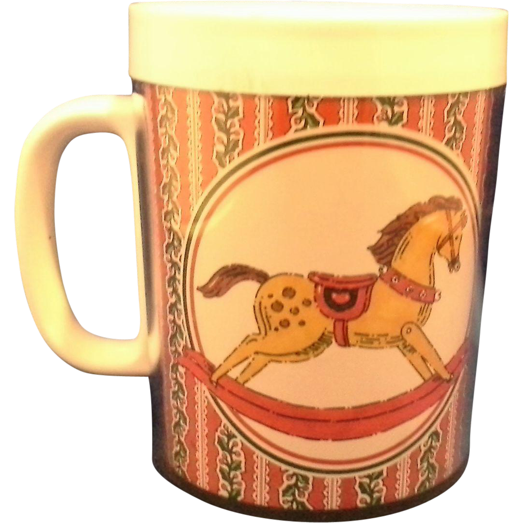 Thermo Serv West Bend Rocking Horse Insulated Double Wall Plastic Mug
