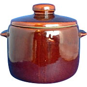 West Bend Brown Glazed Bean Pot