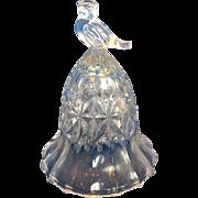 "Hofbauer Byrdes Crystal Bell Bird Finial 3 3/4"""