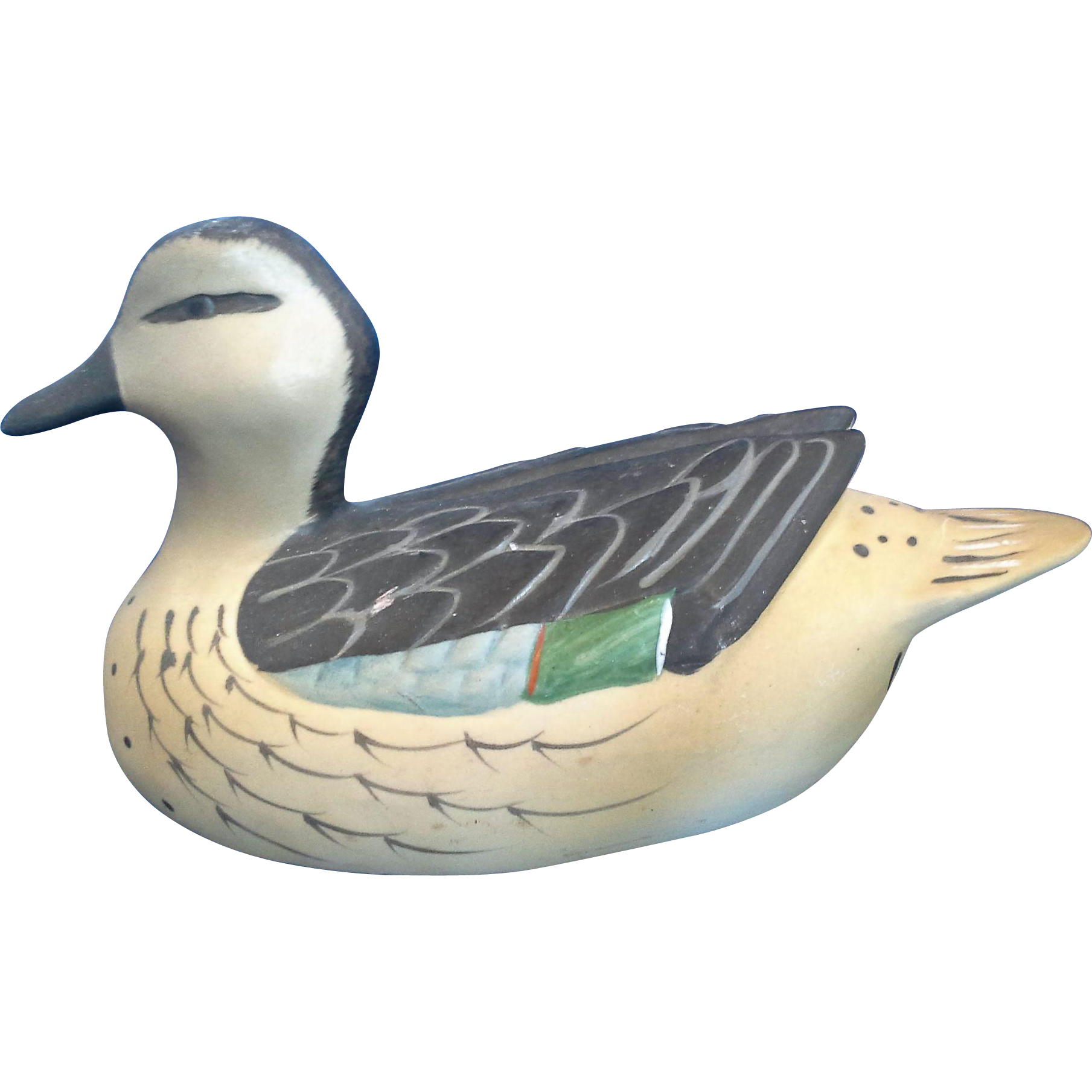 Mallard Duck Hand Painted Bisque Porcelain Duck Decoy