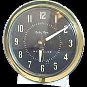 Baby Ben Clock Westclox Cream Brown 1950s