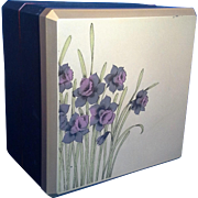 Yamanaka Japan Plastic Lacquer Box Two Tiered Irises