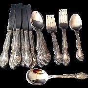 Oneida Galveston Stainless Flatware 18/8 16 Pcs Knives Spoons Forks
