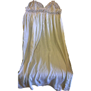 Ecru Cream Silk Chiffon Nightgown Nightie Lace Top