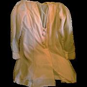 Peach Chiffon Bed Jacket Lounging Jacket Negligee